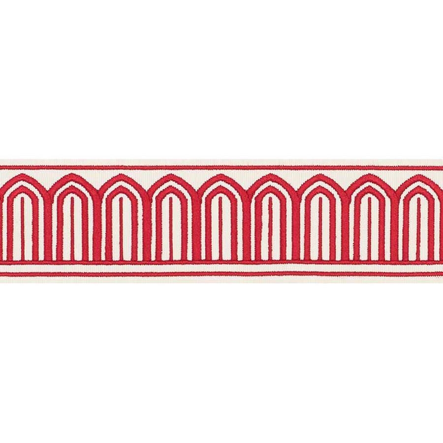 Schumacher Arches Trim Red 70761