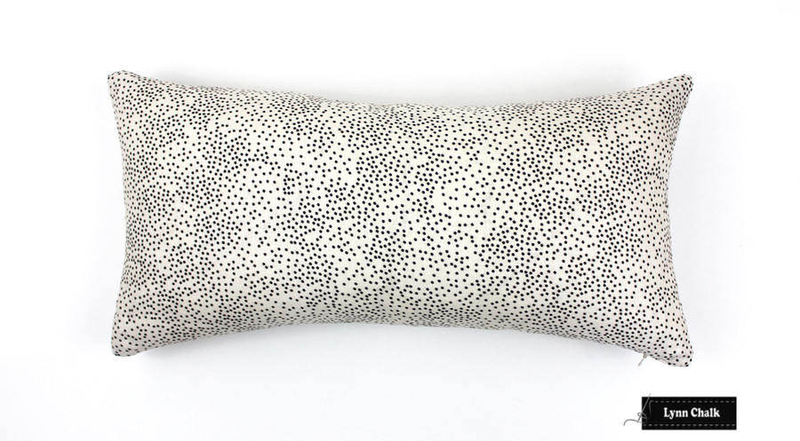 ON SALE 50% Off -Kelly Wearstler Confetti in Cream/Ebony 12 X 24 Pillow (Both Sides-Made To Order)