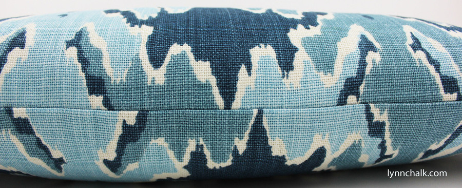ON SALE 50% Off - Kelly Wearstler Bengal Bazaar in Teal Pillow (Both Sides-18 X 18) Made To Order