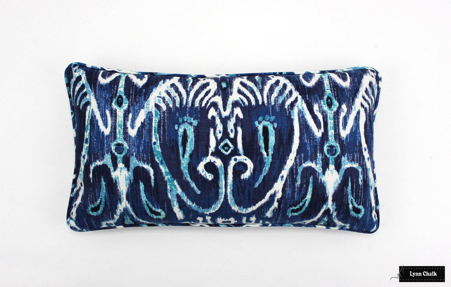 ON SALE Duralee Cerva II 72066 Ikat Pillow With Self Welting (12 X 22 -Both Sides) This fabric is now discontinued.