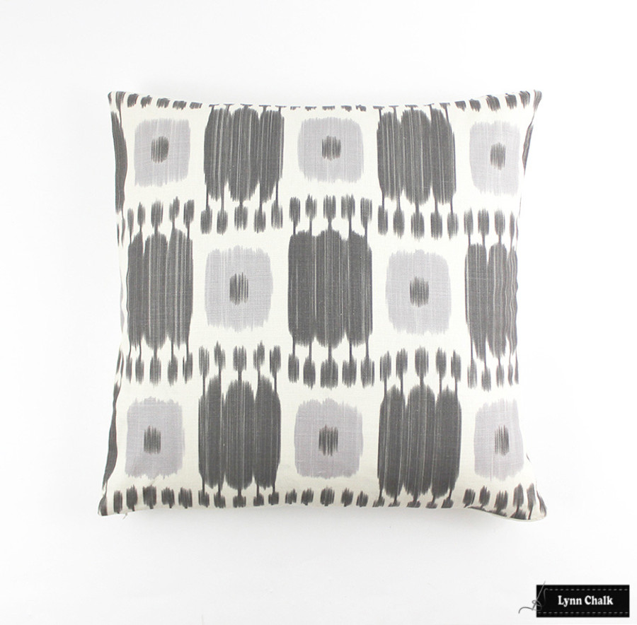 ON SALE 75% Off- Schumacher Kandira Pillows in Ash (Made To Order)