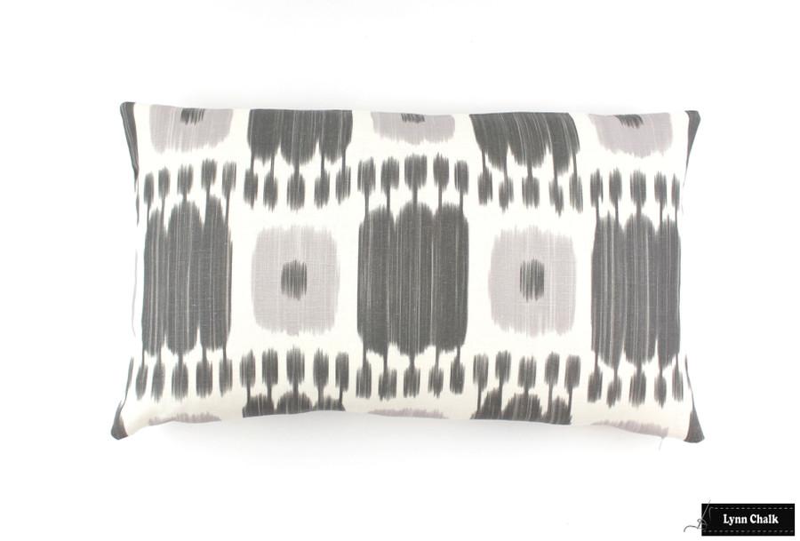 ON SALE 75% Off- Schumacher Kandira Pillows in Ash (Made To Order)