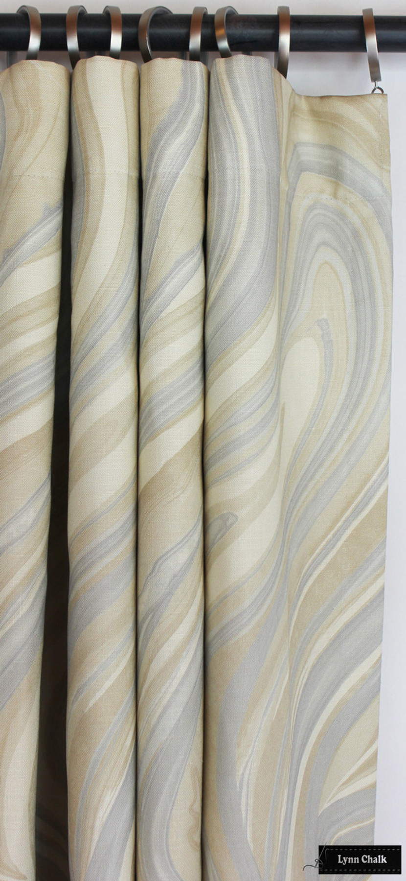 Drapes in Kelly Wearstler Barcelo Alabaster