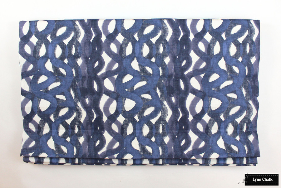 ON SALE 50% Off - Christopher Farr Knife Edge 18 X 18 Pillow in Fathom Indigo (Both Sides-Made To Order)