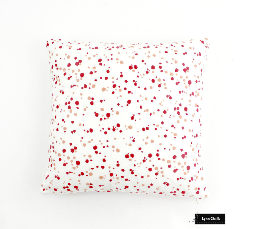 ON SALE 50% Off-Schumacher Lulu DK Skittles Pillows in Punch Coral (Both Sides-22 X 22) Made To Order