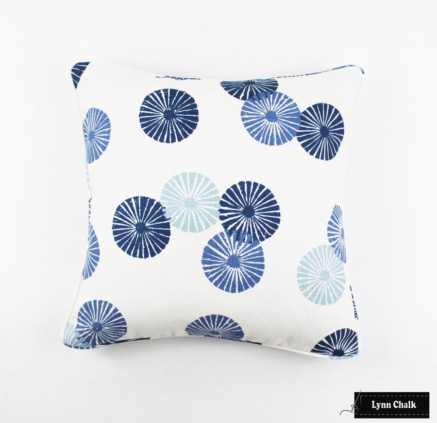 ON SALE 50% Off Lee Jofa Groundworks Kasa in Blue 18 X 18 Pillow (Both Sides-Made To Order)