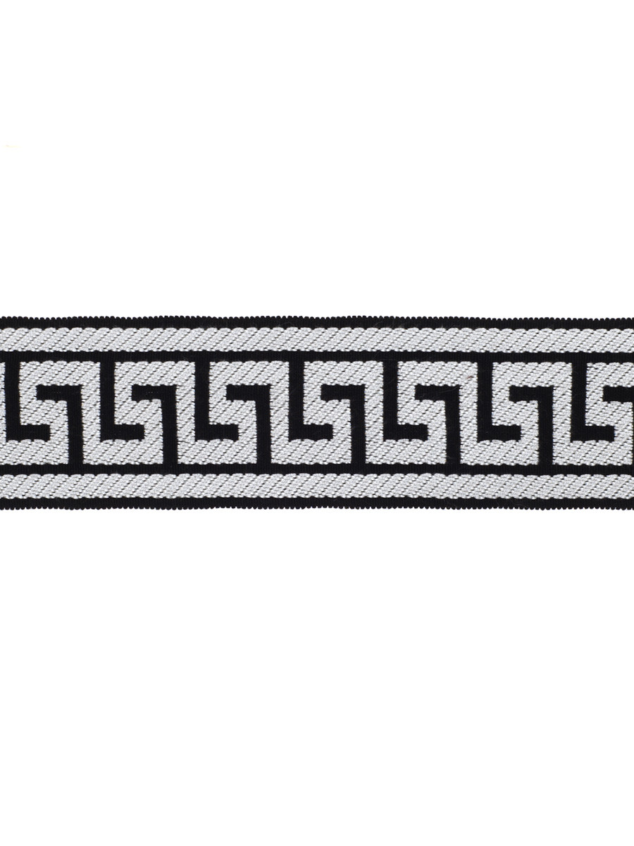 Fabricut Athens Key Trim Domino Black/White