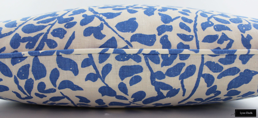 Quadrille China Seas Arbre De Matisse Reverse Pillows with self welting (shown in Brown on Tint 2035-07)