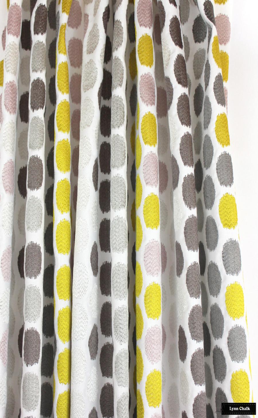 Pierre Frey Eve Tilleul Embroidered Custom Drapes