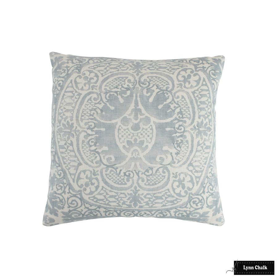 Quadrille Veneto Soft Windsor Blue on Tint Pillow (16 X 16)