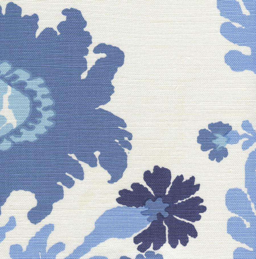 Quadrille Henriot Floral Blues on White 302047FLC