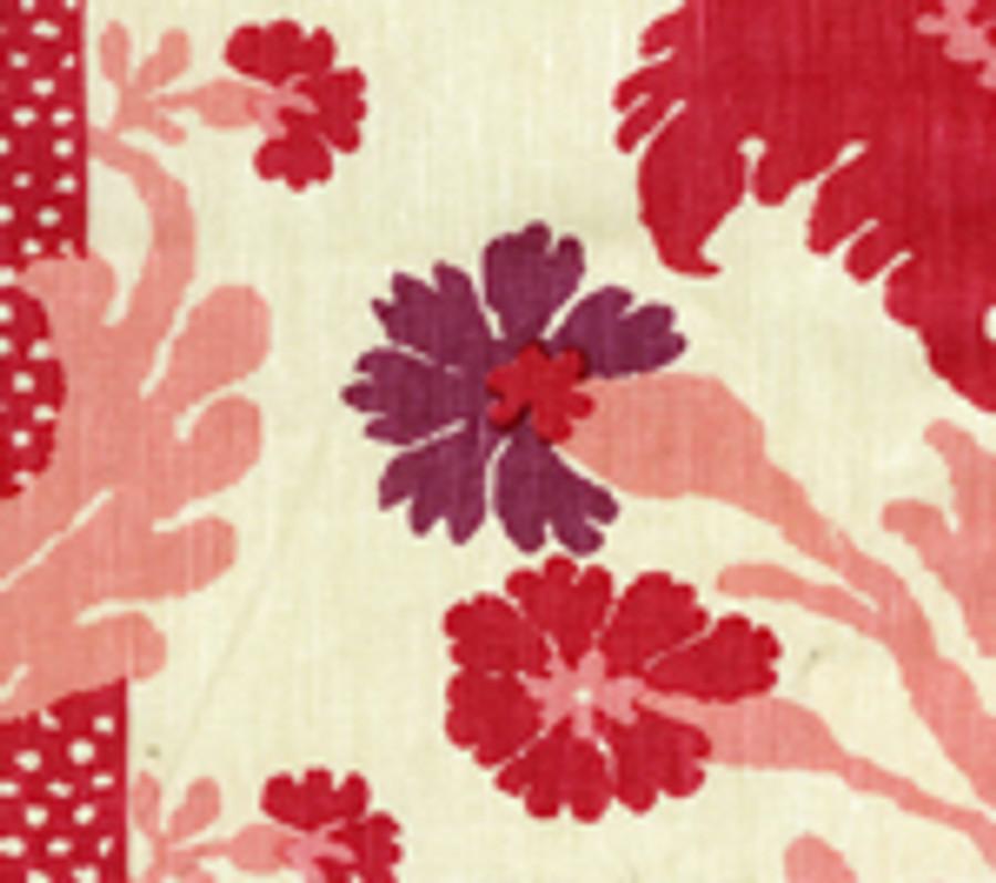 Quadrille Henriot Floral Pinks on Ecru 302040F CU