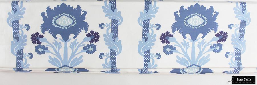 Quadrille Henriot Floral Multi Blues Roman Shade