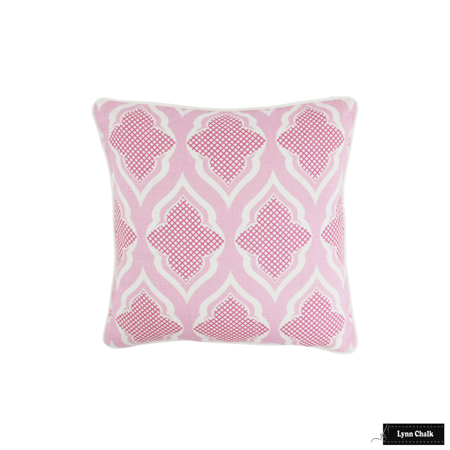 ON SALE 55% Off - Christopher Farr Pillows in Venecia Hot Pink with White Welting (Front Only-18 X 18) Made To Order