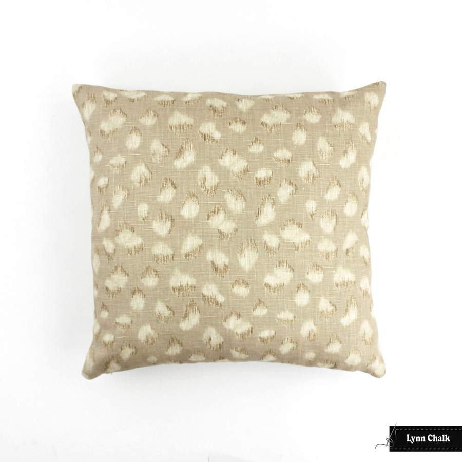 Kelly Wearstler for Lee Jofa Feline Pillow (shown in Beige Ivory-comes in other colors) 2 Pillow Minimum Order