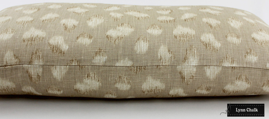 ON SALE 50% Off - Kelly Wearstler Feline Pillows in Beige Ivory (Both Sides-12 X 24)