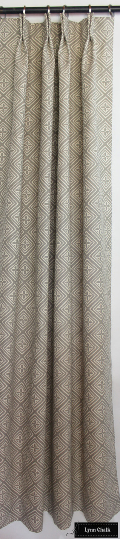 Quadrille China Seas Fiorentina Custom Drapes (shown in Pewter on Tint-Comes in many Colors)