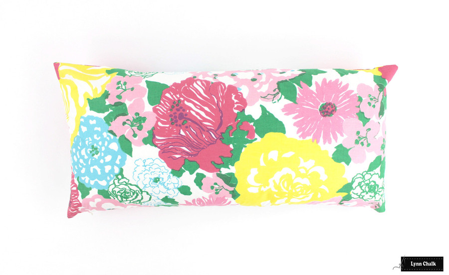 ON SALE Lilly Pulitzer Heritage Floral Pillows (Both Sides-12 X 20)