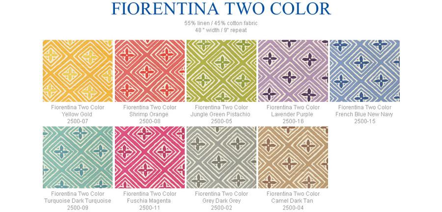 Quadrille China Seas Fiorentina Coral on tint 2490-12 - 5 Yard Minimum Order