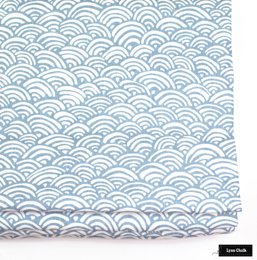 Duralee Lulu DK Bungalow Light Blue LE42558-7 Roman Shade