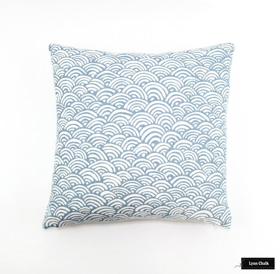 Duralee Lulu DK Bungalow Light Blue LE42558-7 Pillow