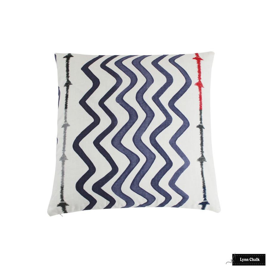 Christopher Farr Rick Rack Pillows in Indigo (22 X 22)