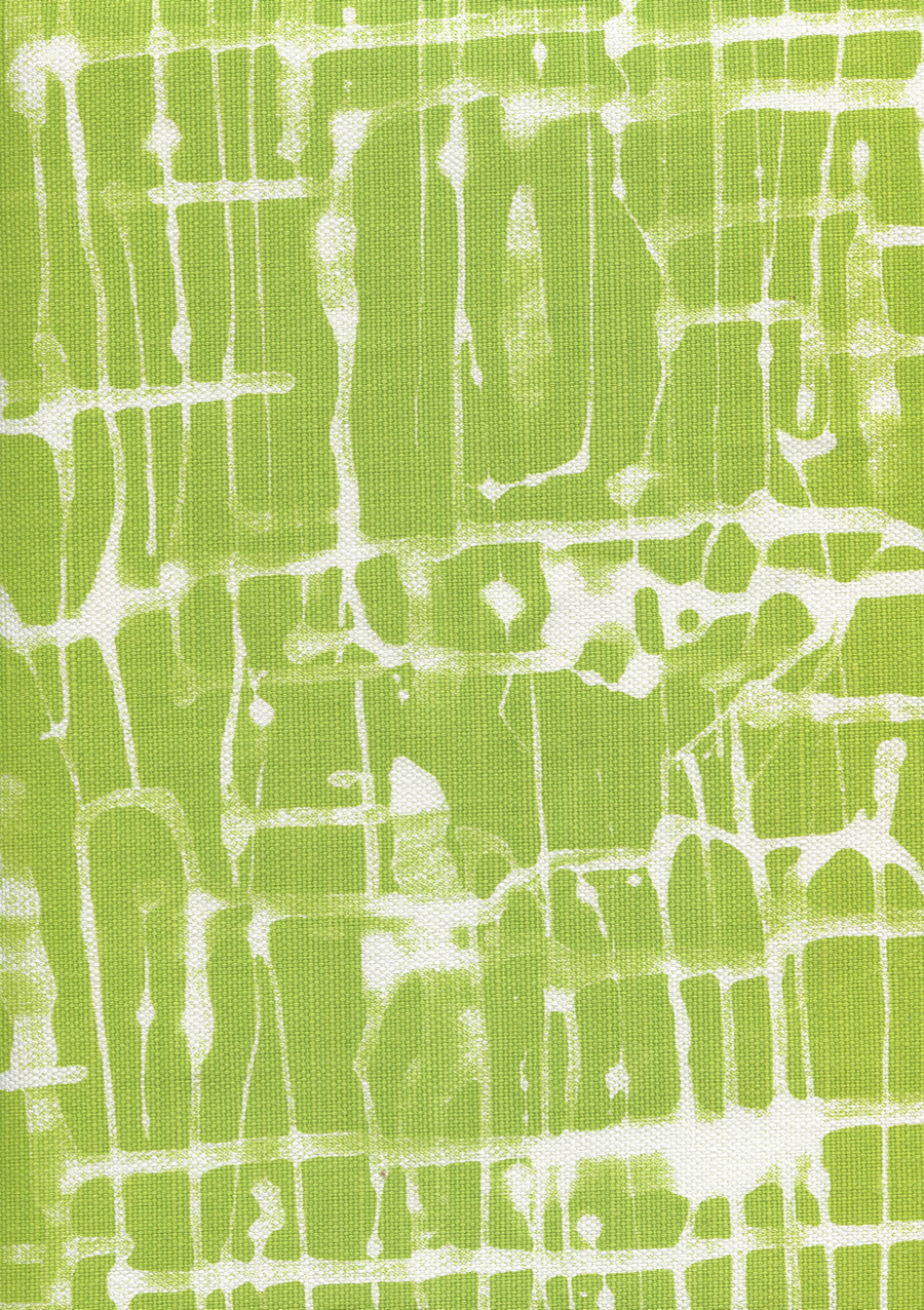 Quadrille Alan Campbell Twill Reverse Palm Green on White AC995 07
