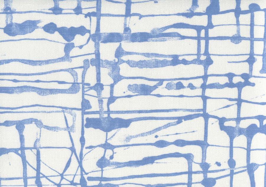 Quadrille Alan Campbell Twill Denim Blue on White AC990 06