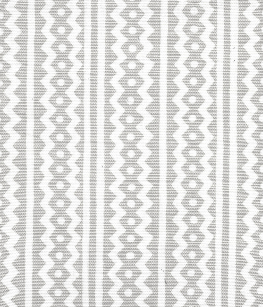 Quadrille Alan Campbell Ric Rac Pale Gray On Tinted Linen Cotton AC935-03