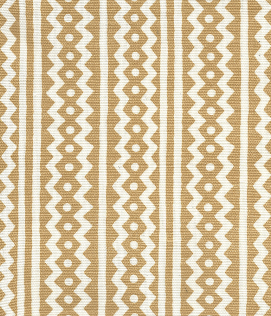 Quadrille Alan Campbell Ric Rac New Camel On Tinted Linen Cotton AC935-01