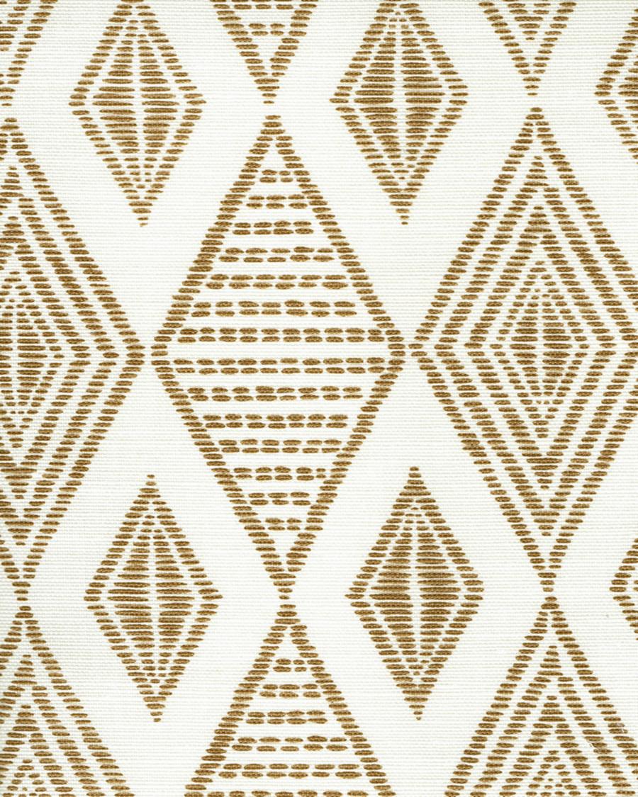 Quadrille Allen Campbell Safari Embroidery Caramel on Tint AC850-13