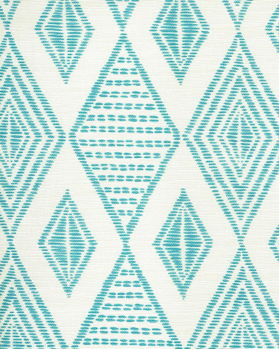 Quadrille Allen Campbell Safari Embroidery Medium Turquoise on Tint AC850-03