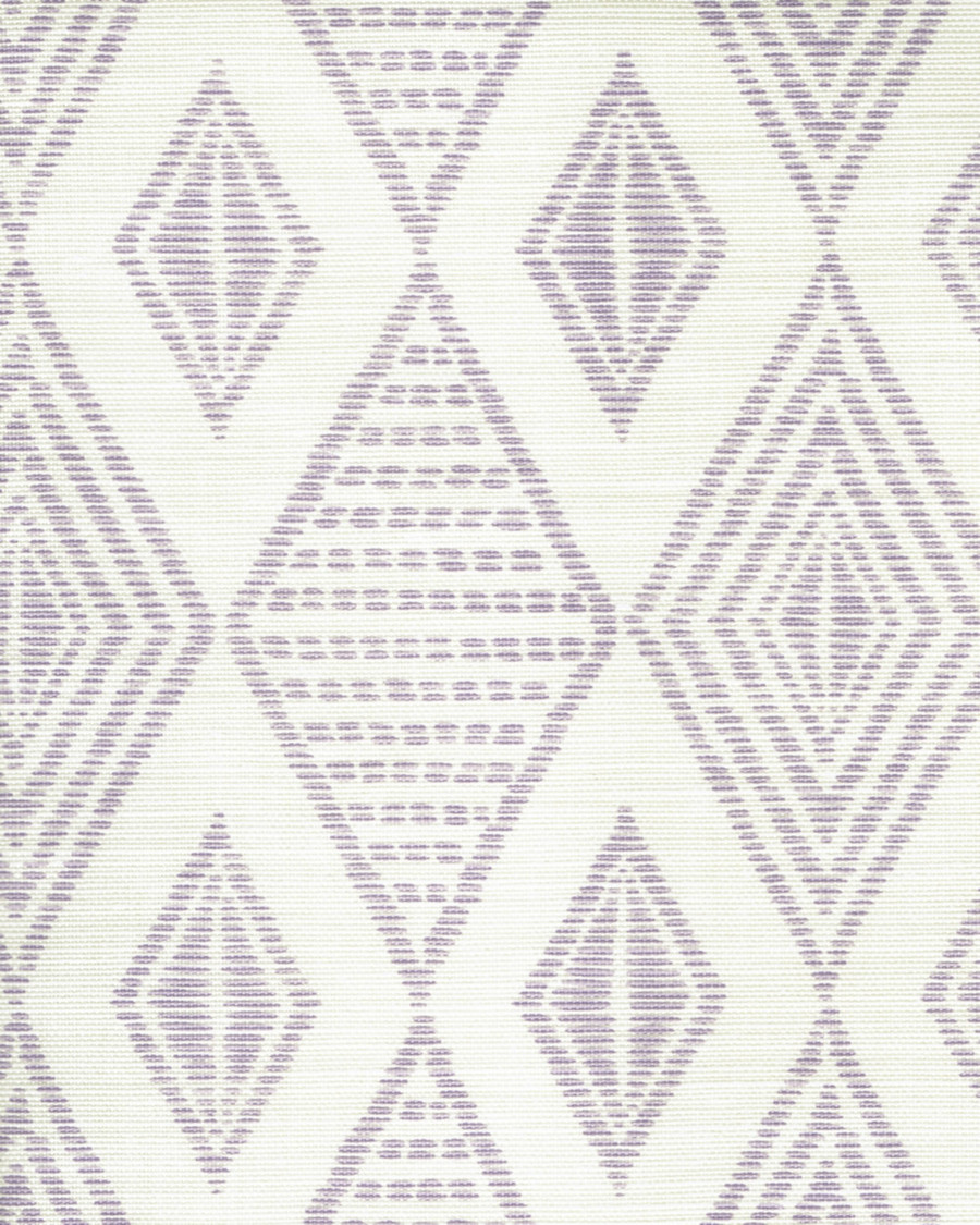 Quadrille Allen Campbell Safari Embroidery Soft Lavender on Tint AC850-04