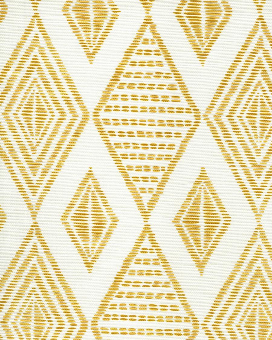 Quadrille Allen Campbell Safari Embroidery Inca Gold on Tint AC850-02
