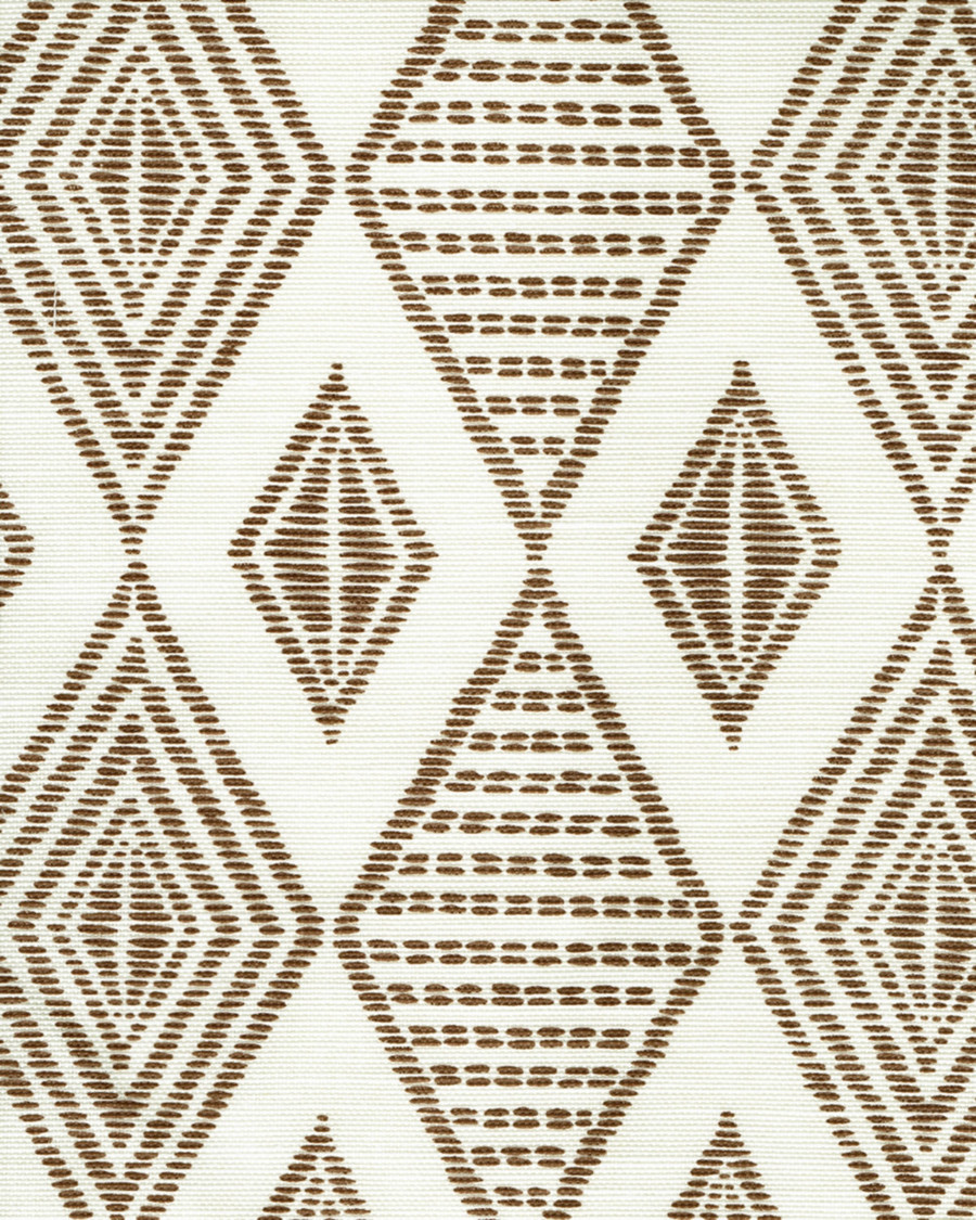 Quadrille Allen Campbell Safari Embroidery Coco on Tint AC850-10