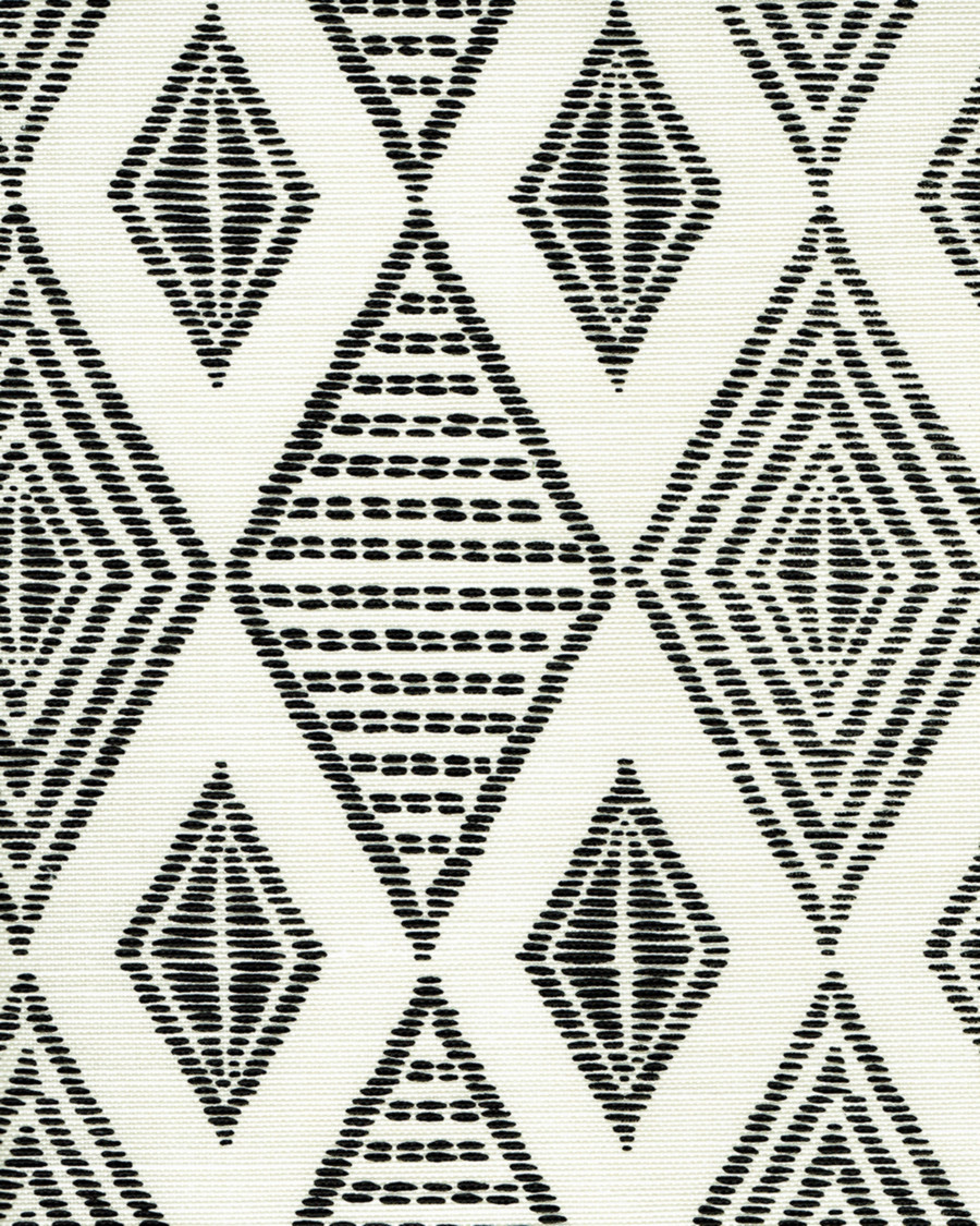 Quadrille Allen Campbell Safari Embroidery Black on Tint AC850-11