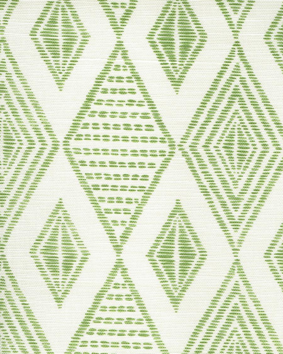 Quadrille Allen Campbell Safari Embroidery Jungle Green on Tint AC850-06