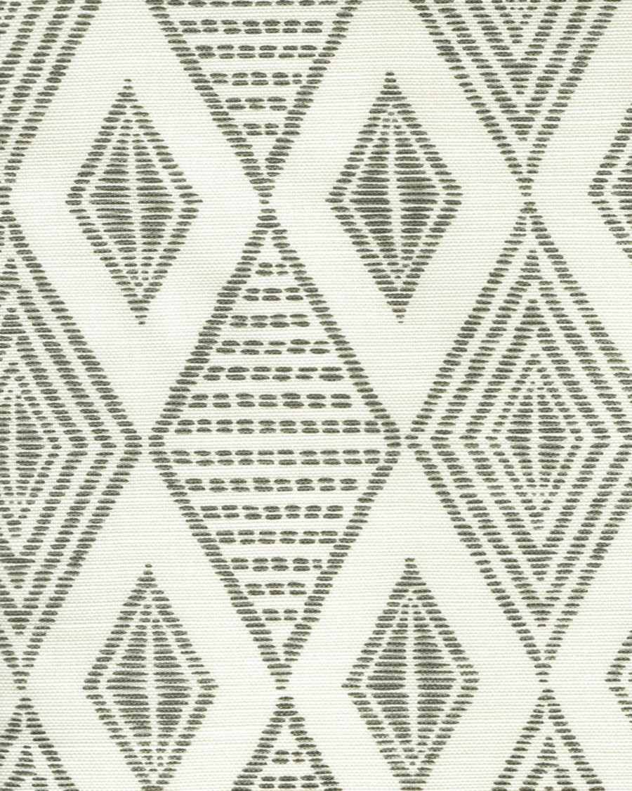 Quadrille Allen Campbell Safari Embroidery Medium Gray on Tint AC850-07