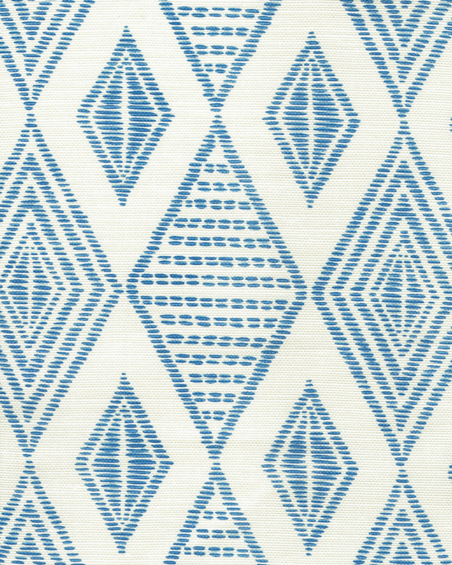 Quadrille Allen Campbell Safari Embroidery French Blue on Tint AC850-05