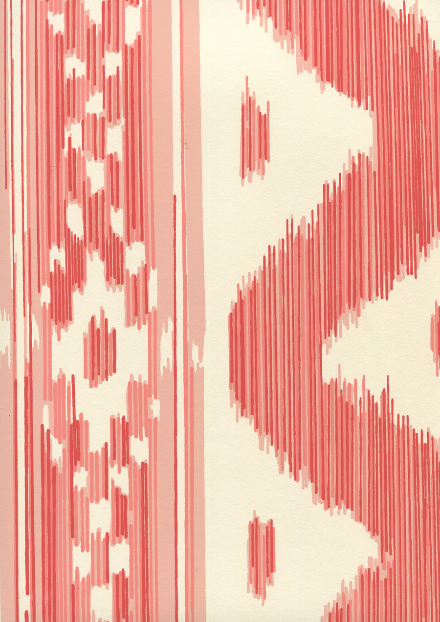 Quadrille China Seas Bali Hai Wallpaper Salmon on Off White 2020-02OWP