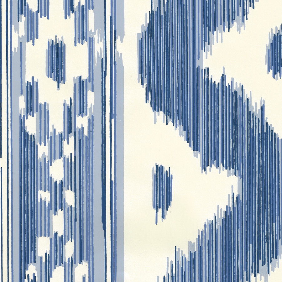 Quadrille China Seas Bali Hai Wallpaper Blues on Off White 2020-01OWP