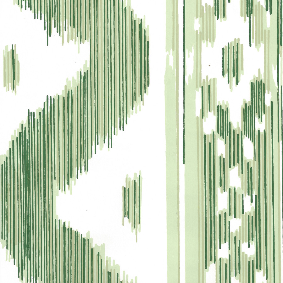 Quadrille China Seas Bali Hai Wallpaper Greens on Almost White 2020-03AWP