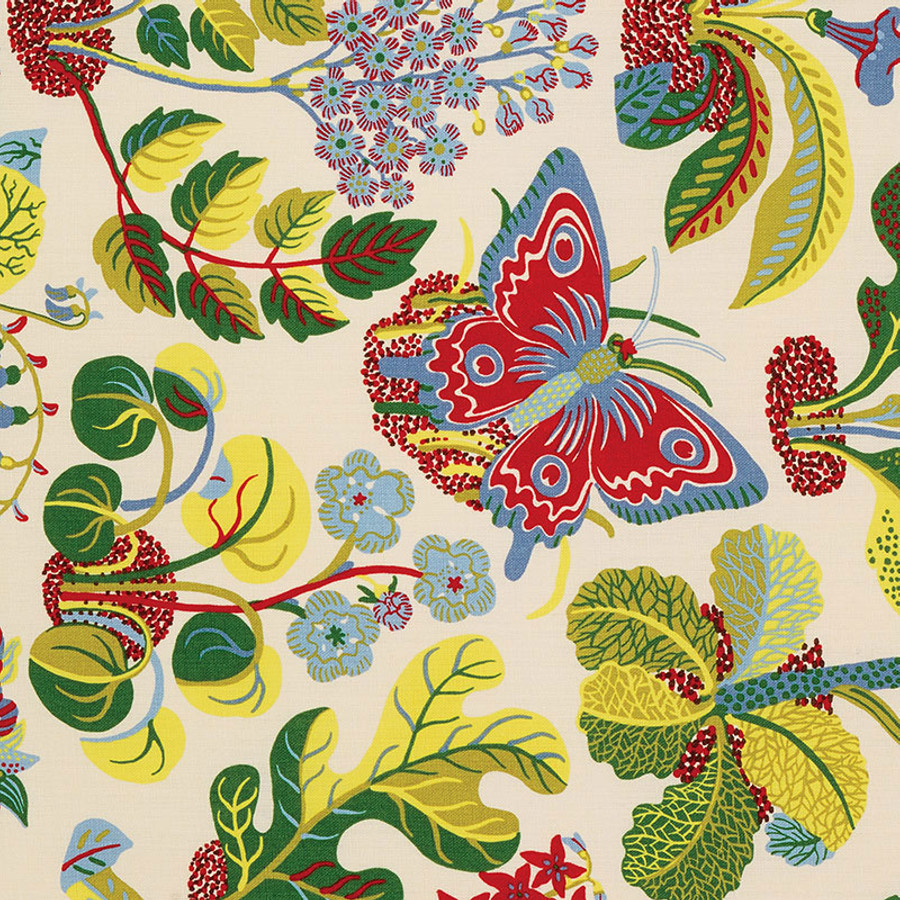 Schumacher Fabric Exotic Butterfly in Multi 176181