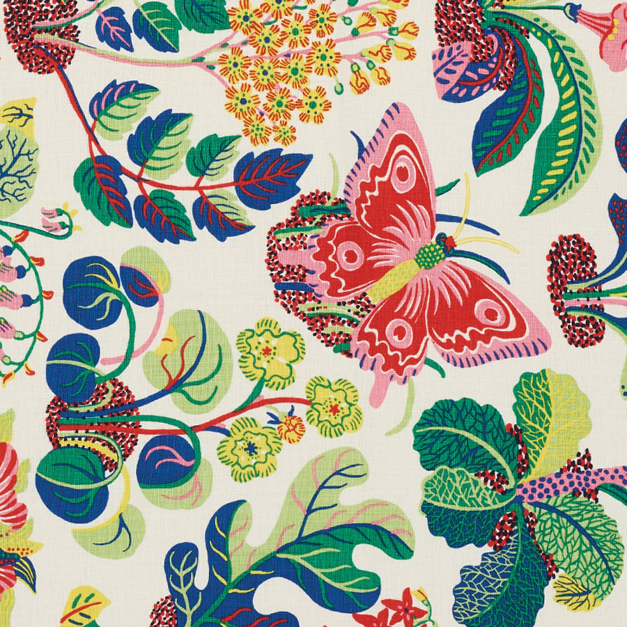 Schumacher Fabric Exotic Butterfly in Spring 176184