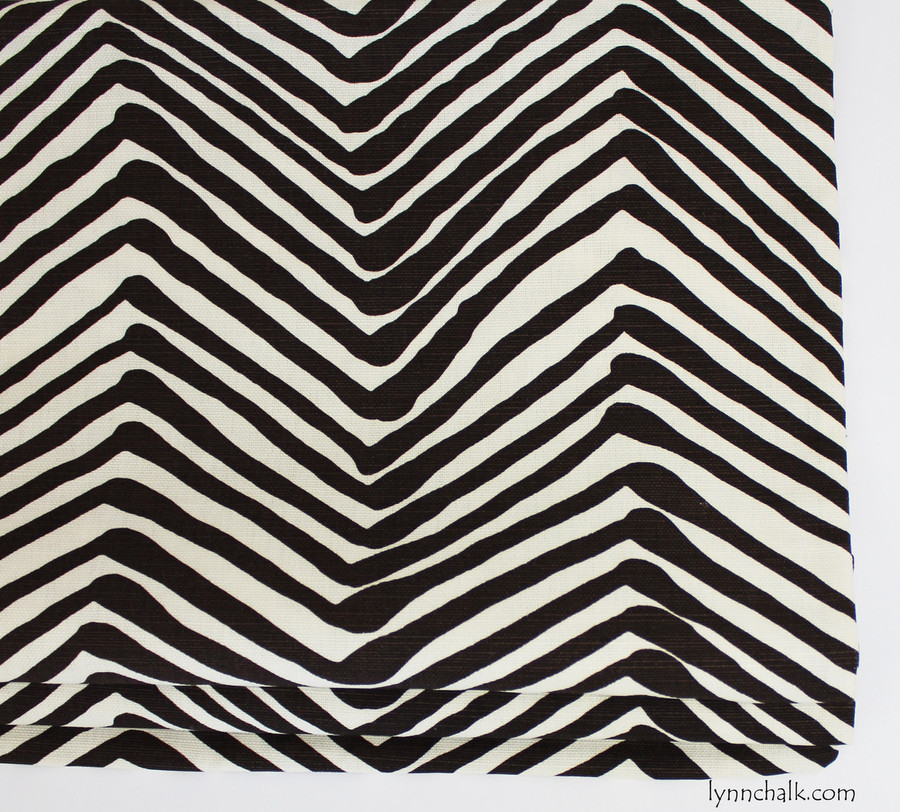 Roman Shade in larger scale Zig Zag in Brown on Tint