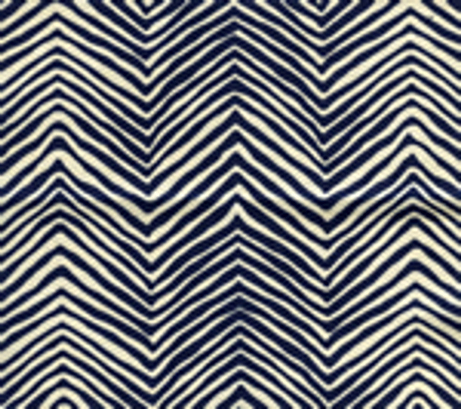Quadrille Alan Campbell Petite Zig Zag Navy On Tint
