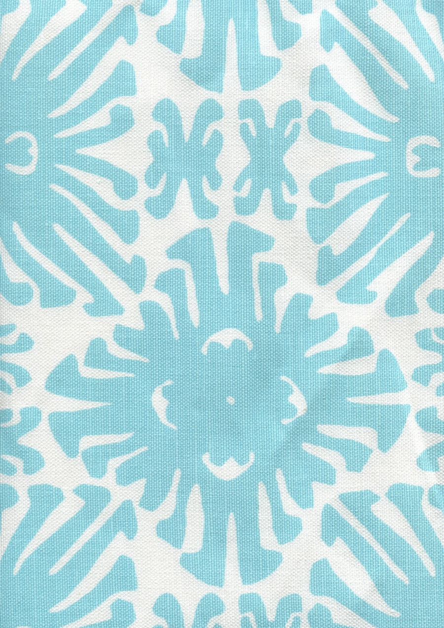 Sigourney Small Scale Turquoise on white 2475 01