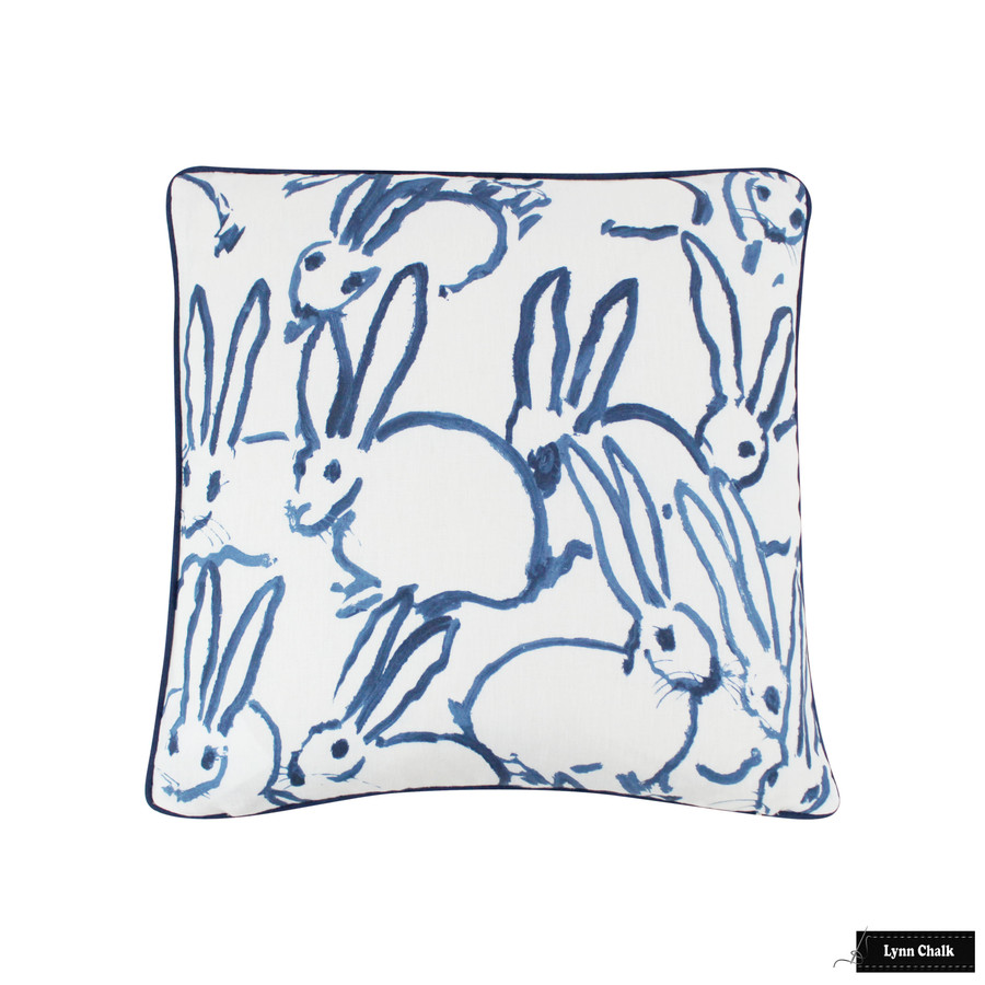 Hunt Slonem for Kravet Hutch Custom Pillow with welting (shown in Navy-comes in other colors) 2 Pillow Minimum Order