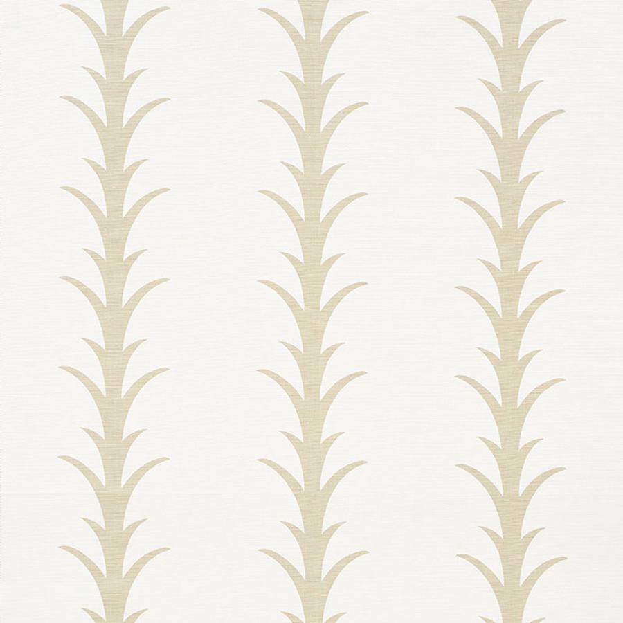 Schumacher Fabric Acanthus Stripe Sand 177630