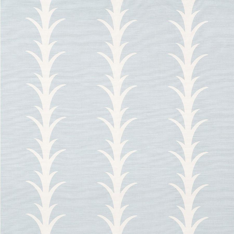 Schumacher Fabric Acanthus Stripe Sky 177633